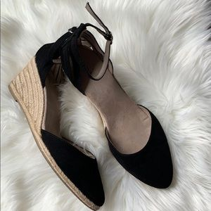 Black Merona Wedge Espadrilles